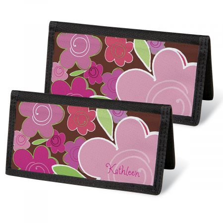 Shades of Pink Checkbook Covers