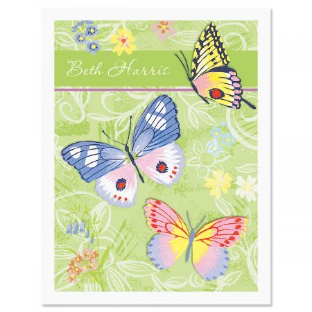 Butterfly Personalized Note Cards