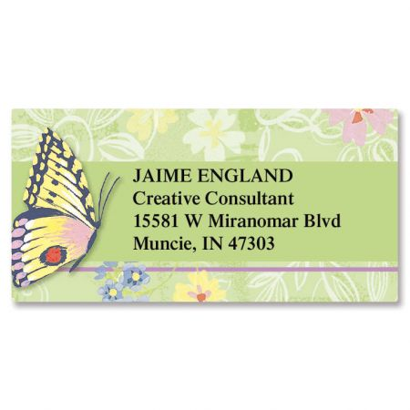 Butterfly Border Address Labels