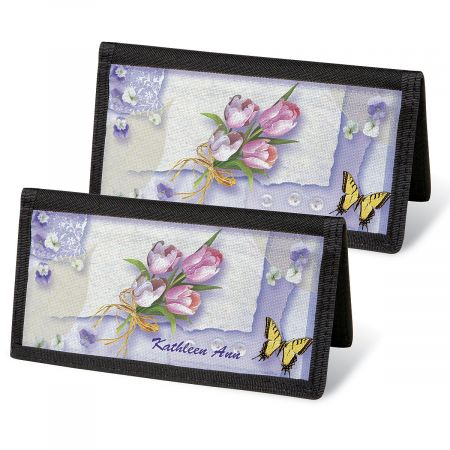 Floral Collage  Checkbook Covers