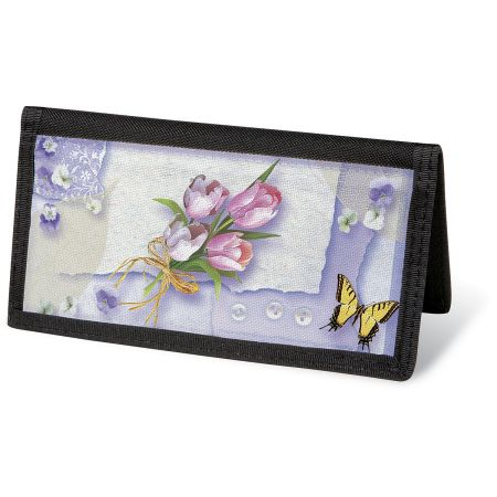 Floral Collage  Checkbook Cover - Non-Personalized