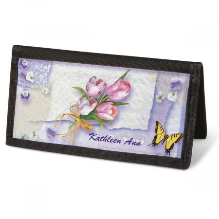 Floral Collage  Checkbook Cover - Personalized