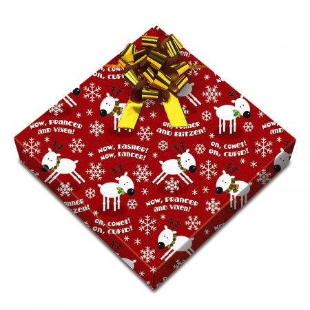 Reindeer Games Holiday Gift Wrap