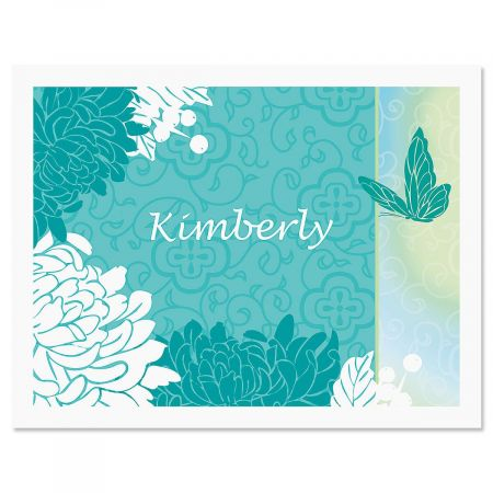 Chrysanthemum Personalized Note Cards