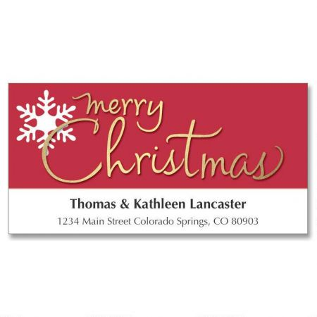 Snowflake Greetings Holiday Address Labels
