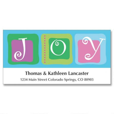 Joy to All Holiday Address Labels