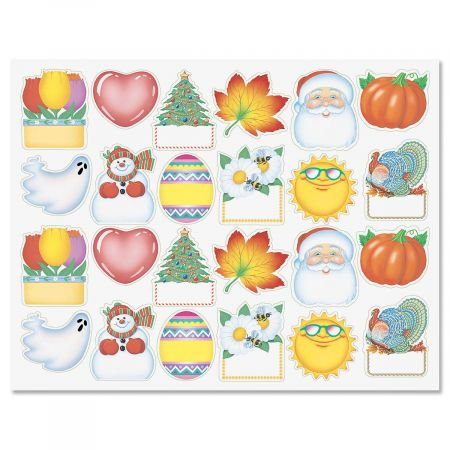 Four Seasons Diecut Address Labels  (12 Designs)