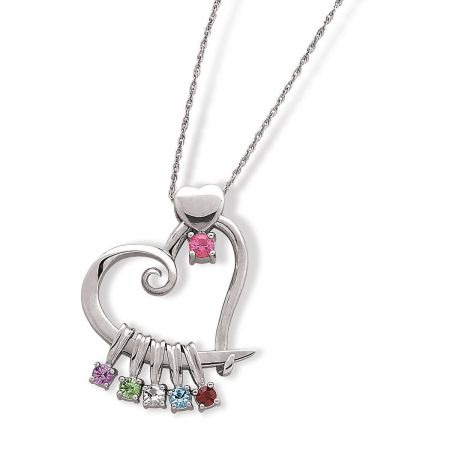 Sterling Silver Birthstone Charms Pendant