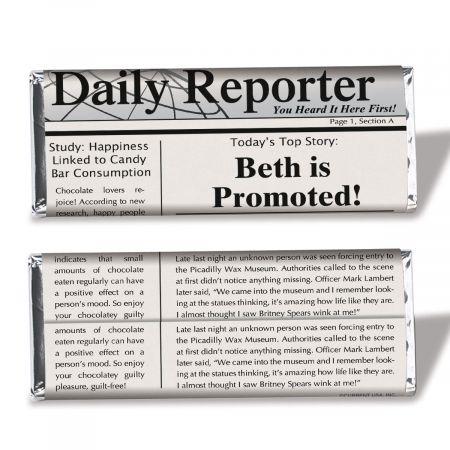 Newspaper Candy Bar Wrapper