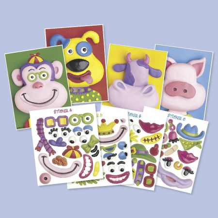Animal Make-A-Face Activity Cards