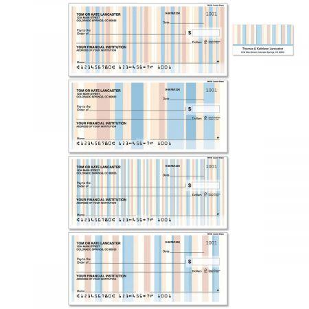 Coastal Stripes Duplicate Checks with Matching Address Labels