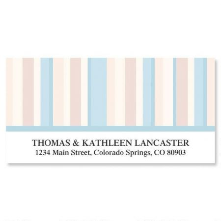 Coastal Stripes Deluxe Address Labels