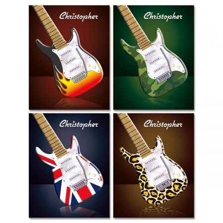Guitar Personalized Note Cards