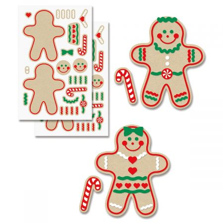 Decorate-Your-Own Gingerbread Stickers