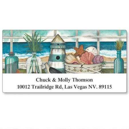 Coastal Views Deluxe Address Labels