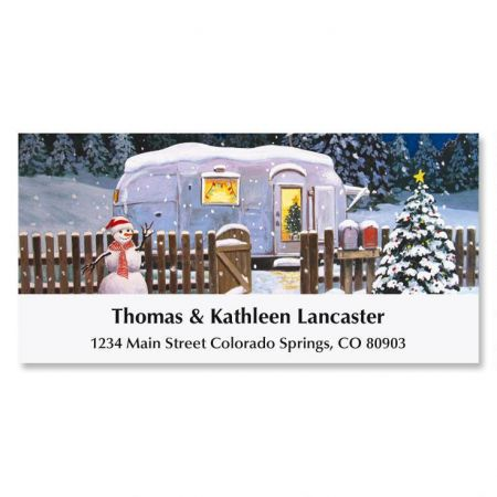 Deck the Hauls Holiday Address Labels
