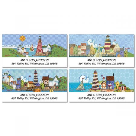 Lighthouses by Jim Shore  Deluxe Address Labels  (4 designs)