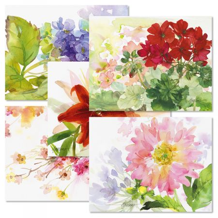 Watercolor Garden Note Card Value Pack - BOGO