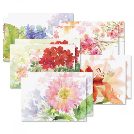 Watercolor Garden Note Card Value Pack - BOGO