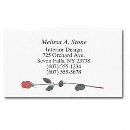 Single Rose Designer Calling Cards
