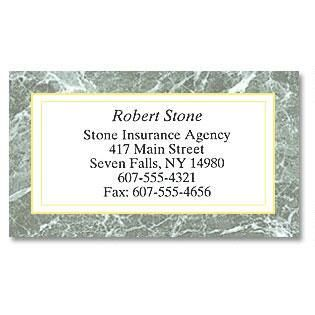 Green Marble Designer Calling Cards