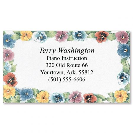 Pansies Designer Business Cards