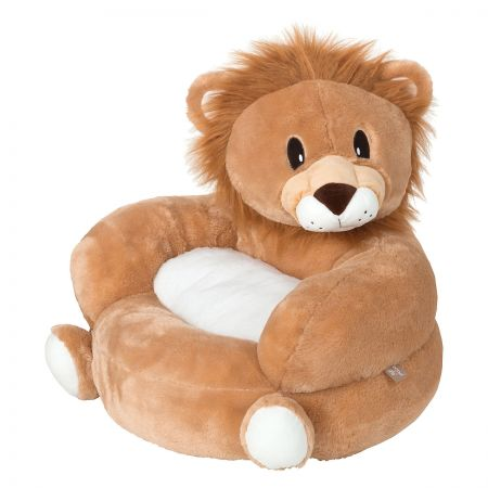 Lion Children's Plush Chair The Lion Plush Character Chair brings delightful whimsy to your little one's world and to any room of the house. Perfect for reading, relaxing, snuggling. Soft outer surface is ideal for cuddling and hugging. Measures 21  x 19  x 19  with contoured support. 100% polyester plush with 100% polyester fill. Spot clean only; use a damp cloth. Suitable for most children ages 12 months and up. Ships directly from the manufacturer. Please allow 1-2 weeks for delivery. Expedited shipping not available. Cannot be sent outside the 48 contiguous states or to a PO Box.