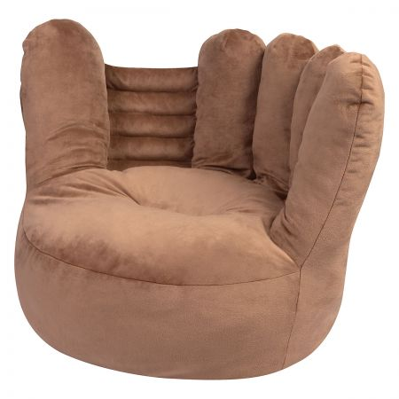 Baseball Glove Children's Plush Chair The Baseball Glove Plush Character Chair brings delightful whimsy to your little one's world and to any room of the house. Perfect for reading, relaxing, snuggling. Soft outer surface is ideal for cuddling and hugging. Measures 21  x 19  x 19  with contoured support. 100% polyester plush with 100% polyester fill. Spot clean only; use a damp cloth. Suitable for most children ages 12 months and up. Ships directly from the manufacturer. Please allow 1-2 weeks for delivery. Expedited shipping not available. Cannot be sent outside the 48 contiguous states or to a PO Box.