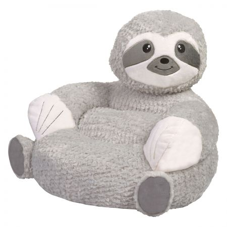 Sloth Children's Plush Chair The Sloth Plush Character Chair brings delightful whimsy to your little one's world and to any room of the house. Perfect for reading, relaxing, snuggling. Soft outer surface is ideal for cuddling and hugging. Measures 21  x 19  x 19  with contoured support. 100% polyester plush with 100% polyester fill. Spot clean only; use a damp cloth. Suitable for most children ages 12 months and up. Ships directly from the manufacturer. Please allow 1-2 weeks for delivery. Expedited shipping not available. Cannot be sent outside the 48 contiguous states or to a PO Box.