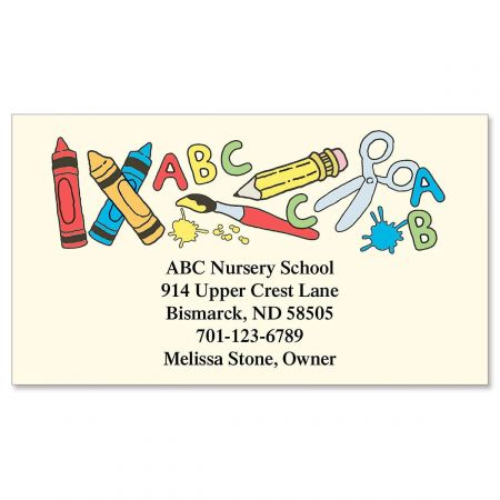 School Tools Designer Calling Cards