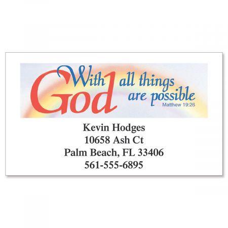 With God Designer Calling Cards
