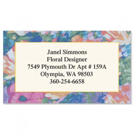 Brushed Floral Designer Calling Cards