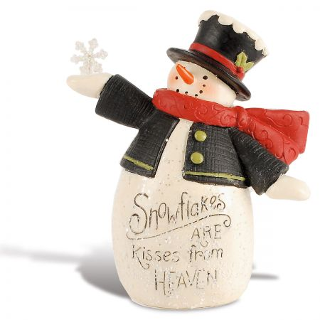 Snowman Kisses Figurine