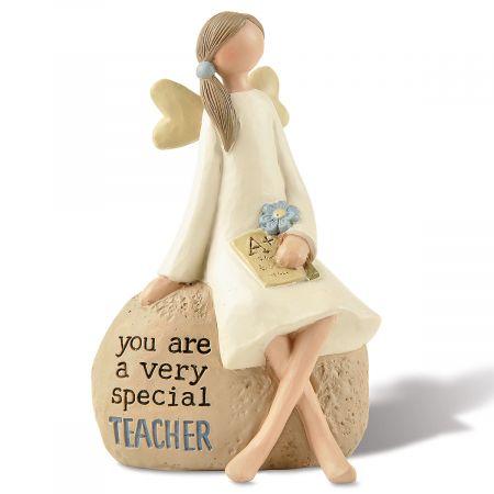 Teacher Angel on Rock
