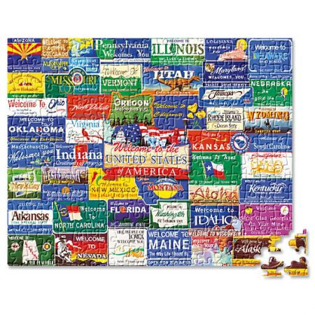 Welcome to America Puzzle by Current Catalog