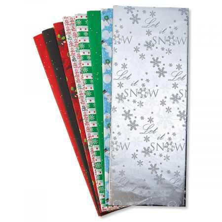 Assorted Silver Snowflake Tissue Value Pack