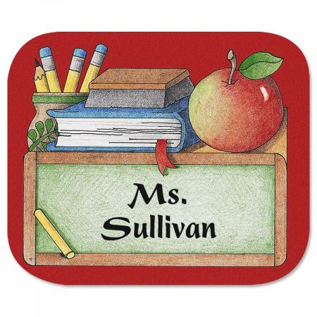 Teacher's Mouse Pad Any teacher will appreciate having this high-quality mouse pad on their desk. Soft fabric top with flexible foam rubber bottom. 7 1/2  x 9 1/4 .Specify up to 2 lines, up to 12 characters and spaces each