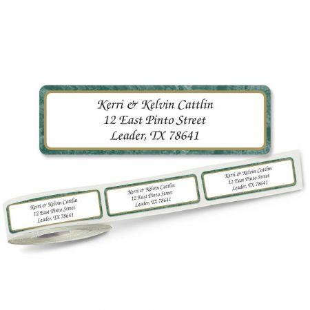 Green Border Rolled Address Labels