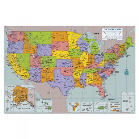 Stick on USA Wall Map