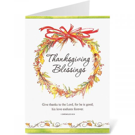 Simple Faith Thanksgiving Cards - BOGO