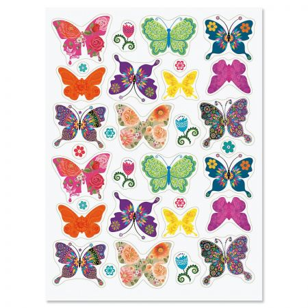 Floral Butterfly Stickers - BOGO