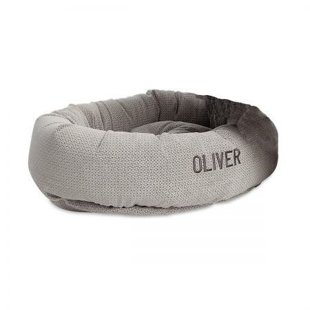 Personalized Silver Treats Dog Bed by Bowsers Pet Products