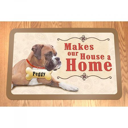 ...Makes Our House A Home Dog Personalized Welcome Doormat