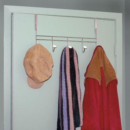 5-Hook Over-the-Door Rack