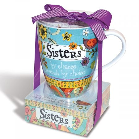 Sisters Mug with Notepad Gift Set