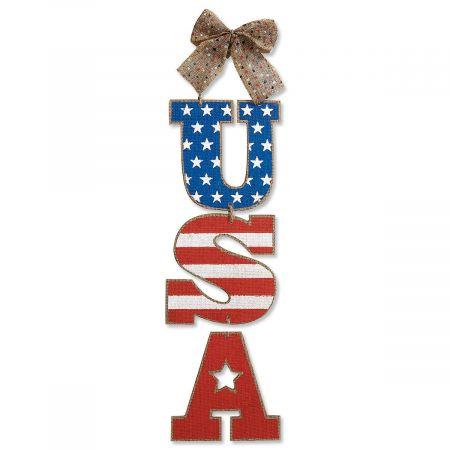 Patriotic USA Hanging Sign