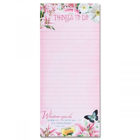 Things To Do Magnetic List Pad