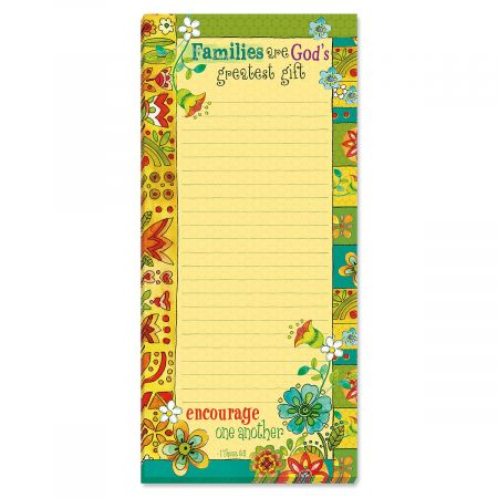 Families Inspirational Magnetic List Pads