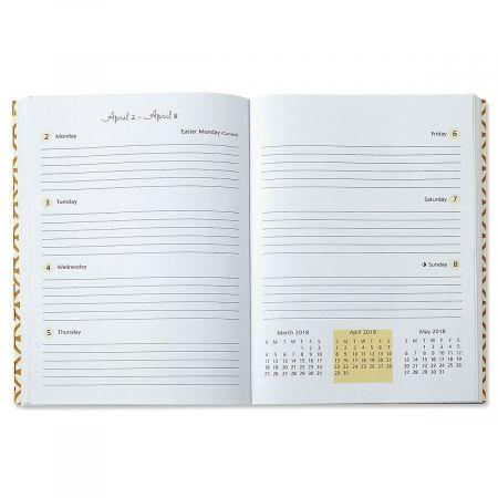 2018 Gold Stripe Weekly Planner