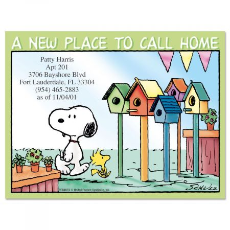 PEANUTS® House Hunting New Address Postcards